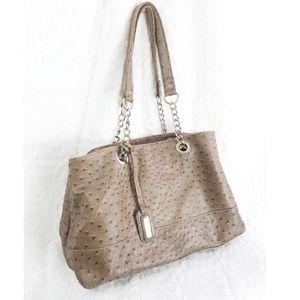 Mondani New York Ostrich Textured Purse Bag